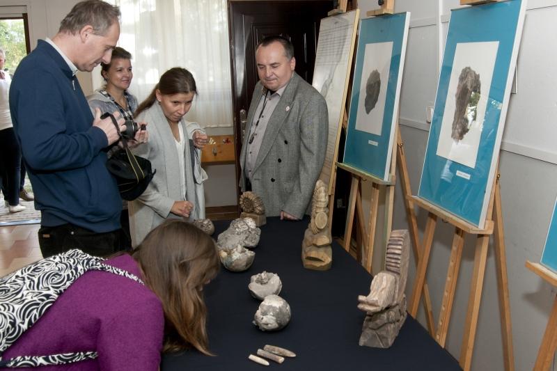 Udział Muzeum Regionalnego w Łukowie w otwarciu kamiennego lapidarium w Wólce Kamiennej gm. Zbuczyn