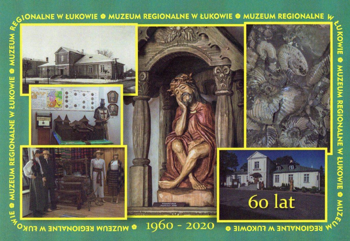 Jubileuszowe pocztówki z okazji 60-lecia istnienia Muzeum Regionalnego w Łukowie